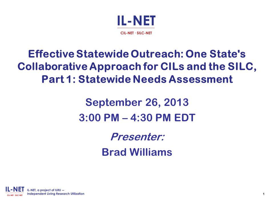 For more information Contact: Brad Williams— bradw@nysilc.org 32