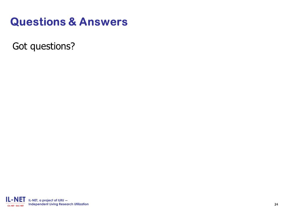 Questions & Answers Got questions 24