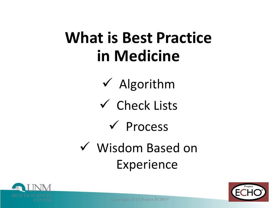 Hepatitis C What is Best Practice in Medicine Algorithm Check Lists Process Wisdom Based on Experience
