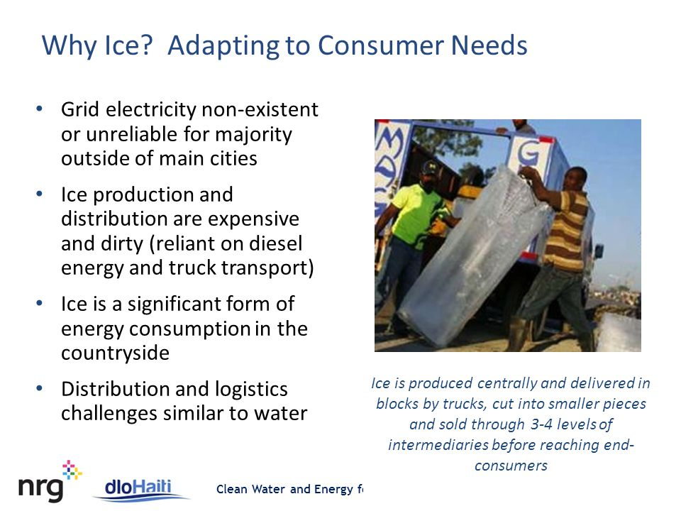 Clean Water and Energy for Untapped Markets at the Bottom of the Pyramid Why Ice.