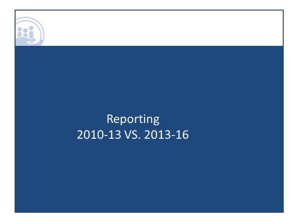 Reporting 2010-13 VS. 2013-16