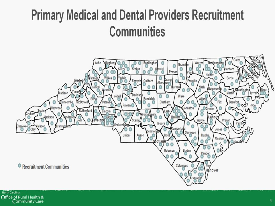 10 Documenting the Return On Investment (ROI) Analysis of the benefit of ORHCC recruitment efforts on North Carolina's economy: The total value of revenue generated from the 129 primary medical, dental, and psychiatric placements in SFY 2011 is $47.8 million The 129 placements resulted in approximately 382 jobs In SFY 2011, the total cost of the recruitment program, including incentives, was $2,471,934 9, yielding a ROI of 19.3 to 1.