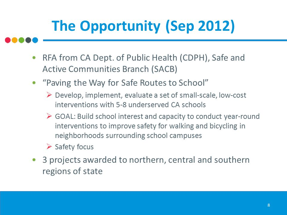 The Opportunity (Sep 2012) RFA from CA Dept.