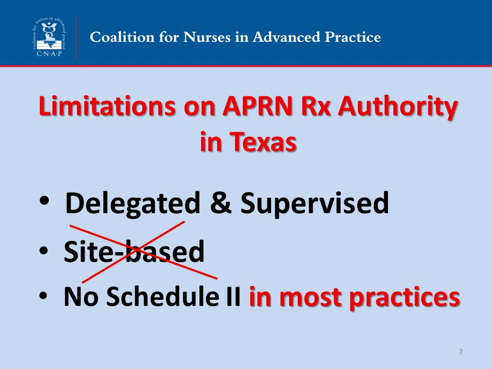 APRN Practice: Delegated Medical Acts Prescribing & Ordering Drugs & Medical Devices Ordering Durable Medical Equipment & Supplies Establishing a Medical Diagnosis Verifying medical eligibility for disabled parking placard Ordering Orthotics and Prosthetics Ordering respiratory care Tx Medicaid – Ordering therapy services 18