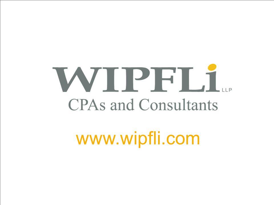 © Wipfli LLP www.wipfli.com 52 www.wipfli.com