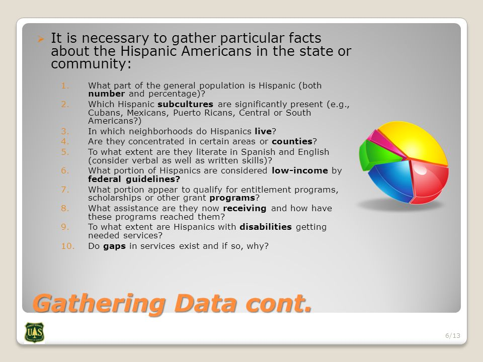 Gathering Data cont.