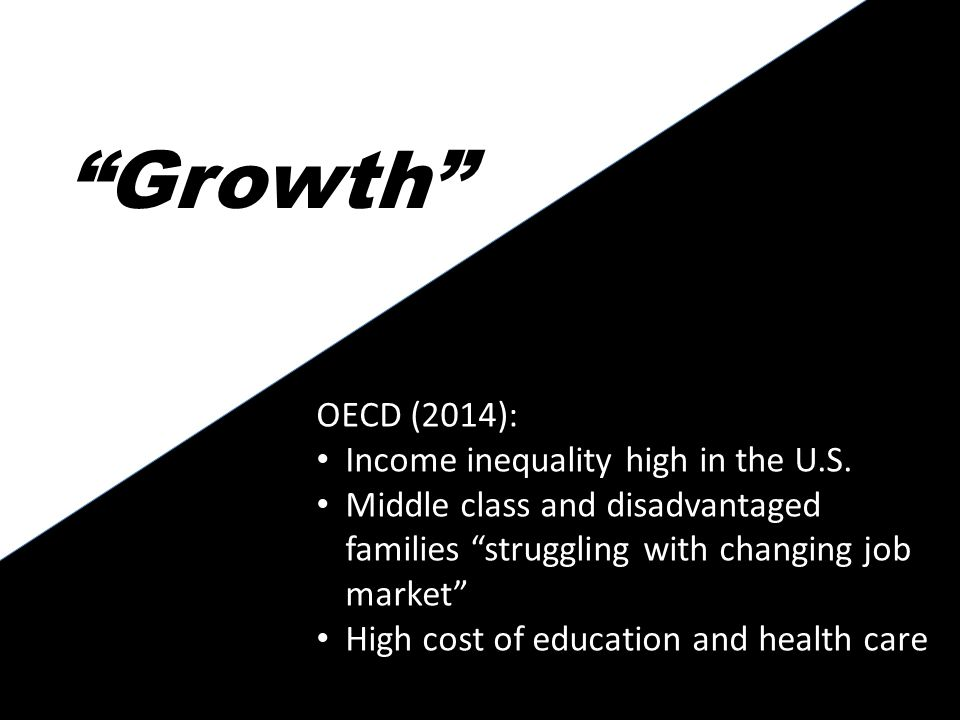 Growth es OECD (2014): Income inequality high in the U.S.