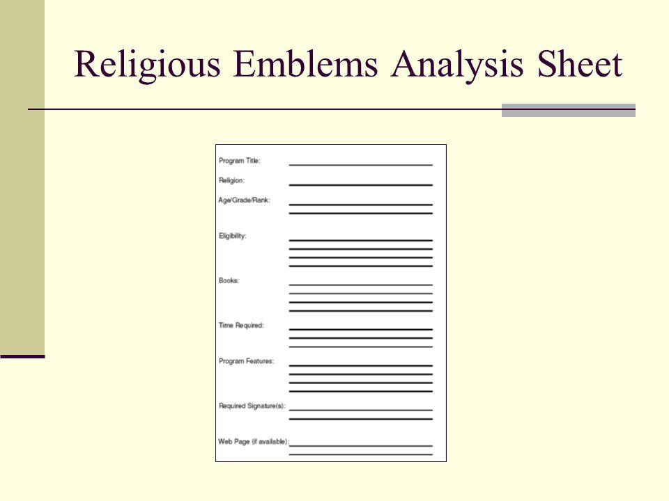 Religious Emblems Analysis Sheet