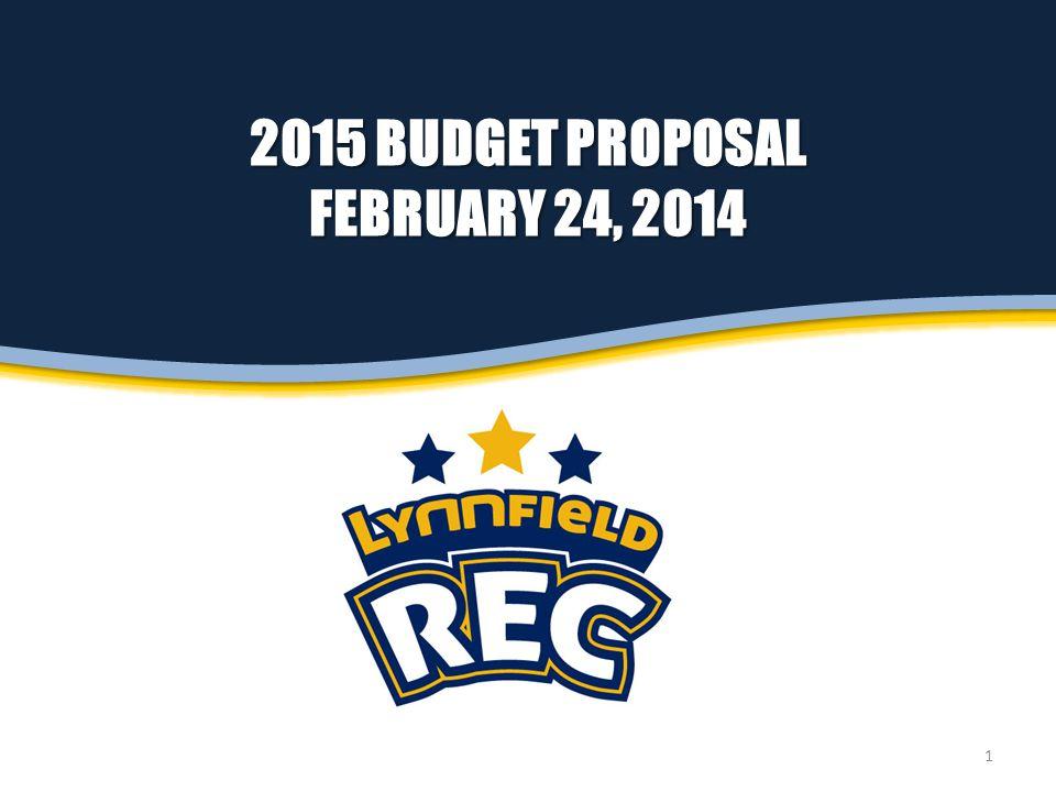 2015 BUDGET PROPOSAL FEBRUARY 24, 2014 1