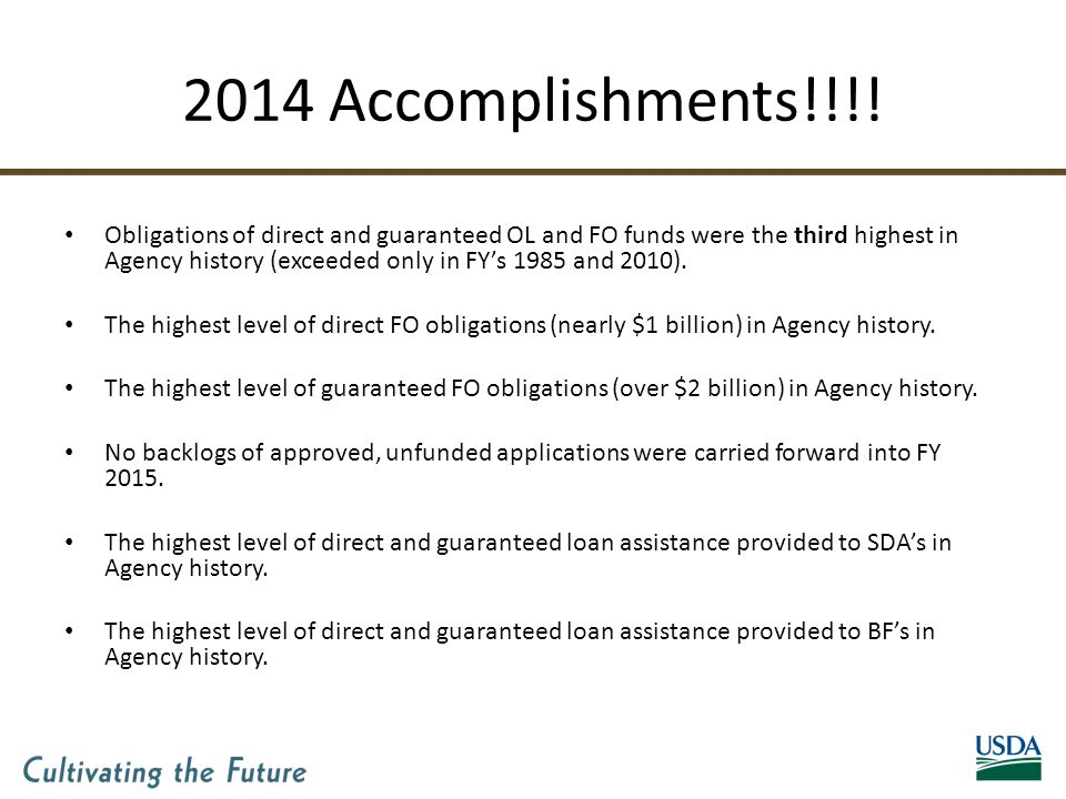 2014 Accomplishments!!!.