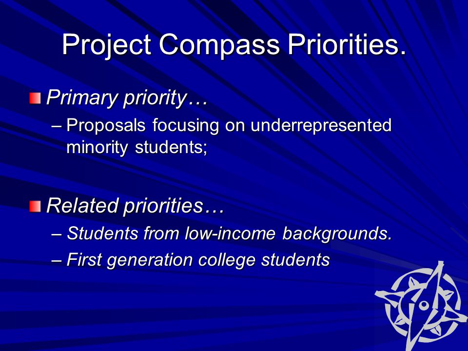 Project Compass Priorities.