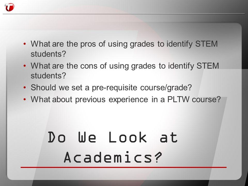 Do We Look at Academics?
