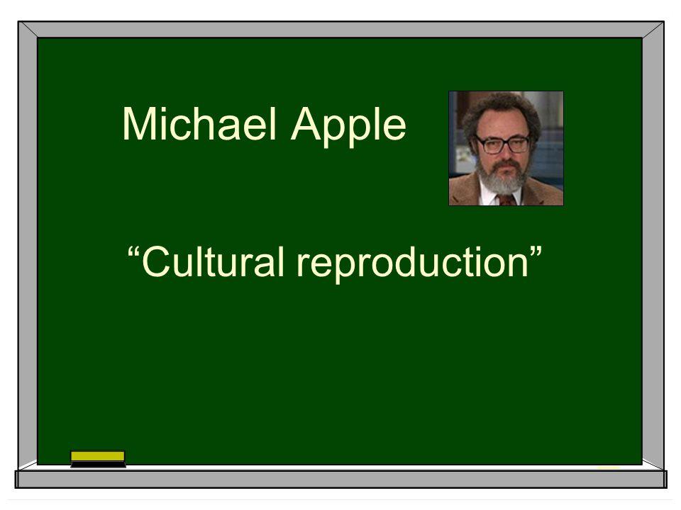 Michael Apple Cultural reproduction