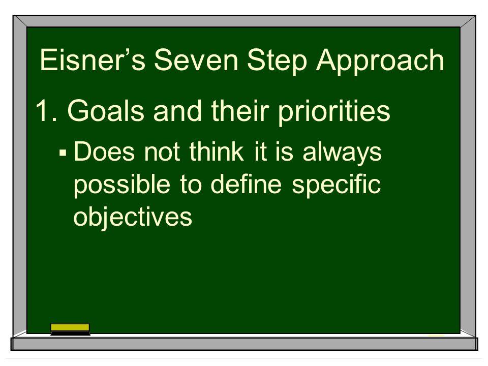 Eisner's Seven Step Approach 1.