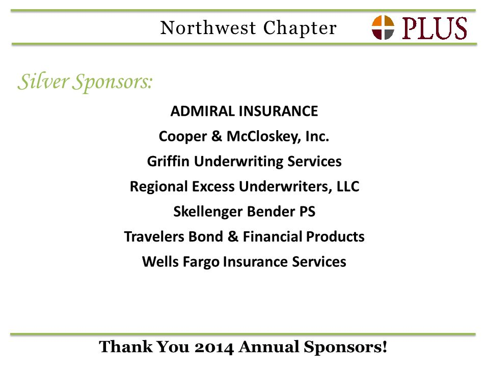 Thank You 2014 Annual Sponsors.