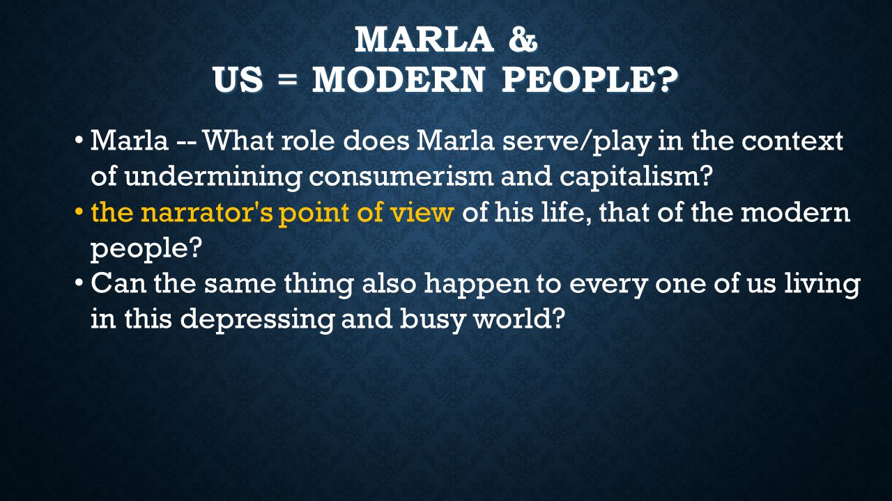 MARLA & US = MODERN PEOPLE.