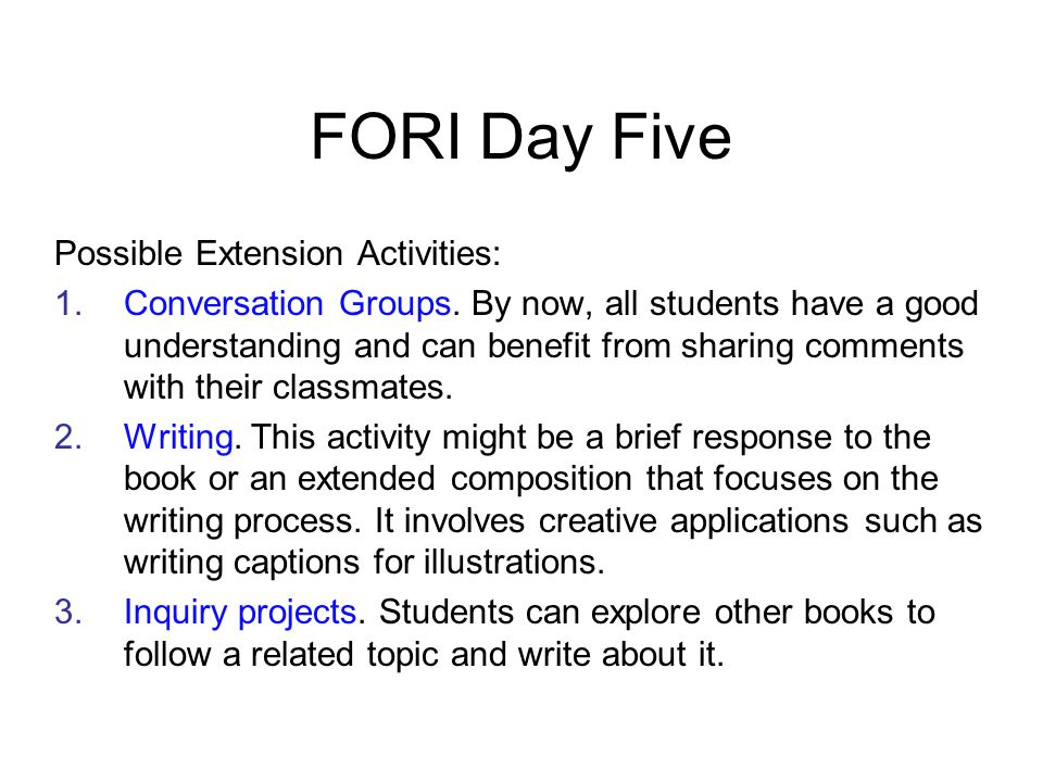 What potential do you see for ideas from FORI to improve fluency practices in your program.