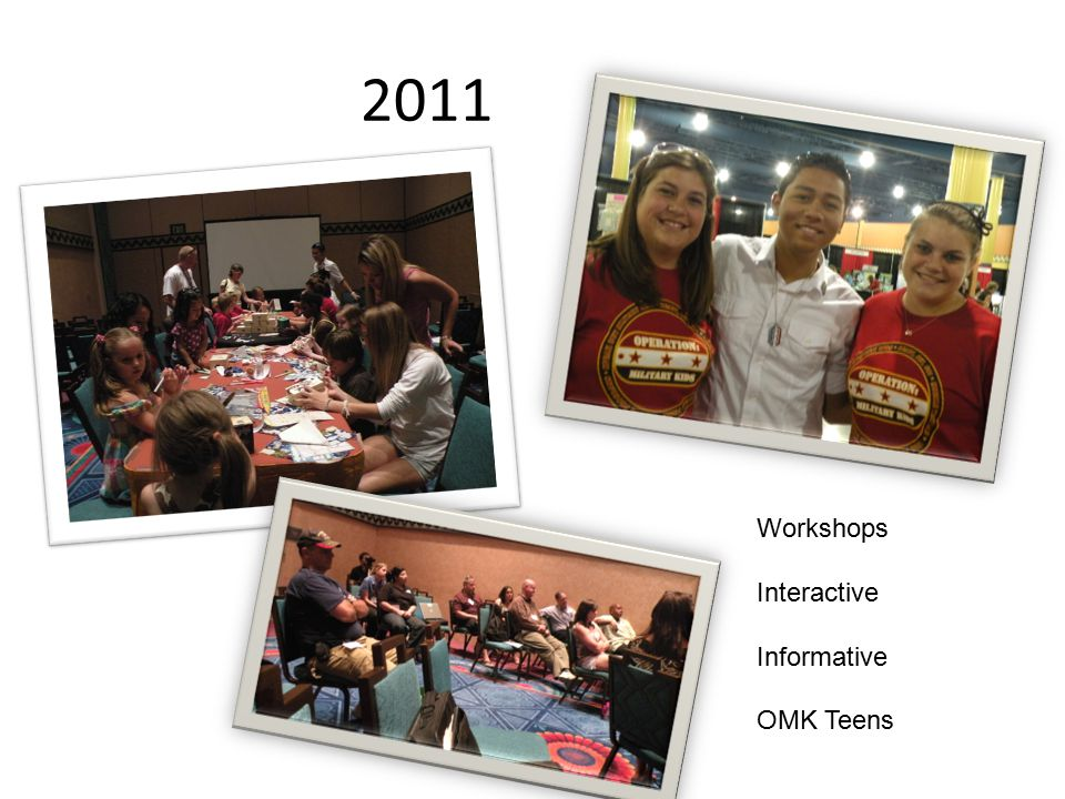 2011 Workshops Interactive Informative OMK Teens