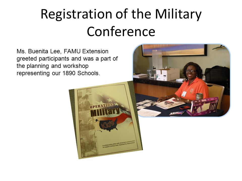 Registration of the Military Conference Ms.