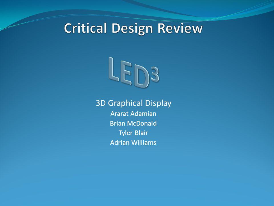 3D Graphical Display Ararat Adamian Brian McDonald Tyler Blair Adrian Williams