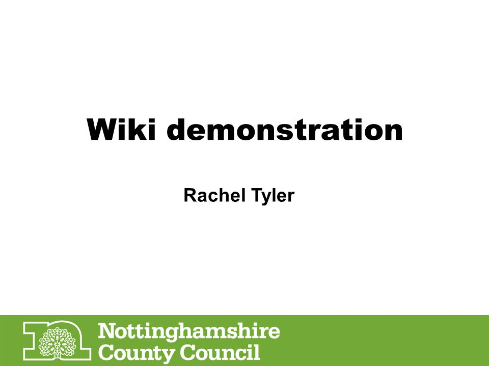 Wiki demonstration Rachel Tyler