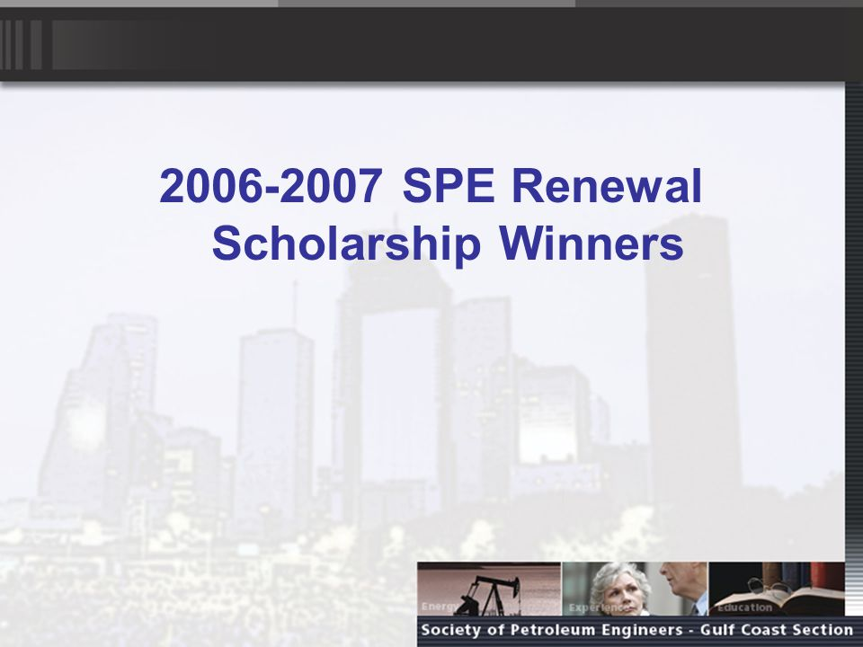 RENEWAL SCHOLARSHIP - SENIOR Sara Coulthard Sara attends Texas A&M University where next year she will be a senior studying petroleum engineering.