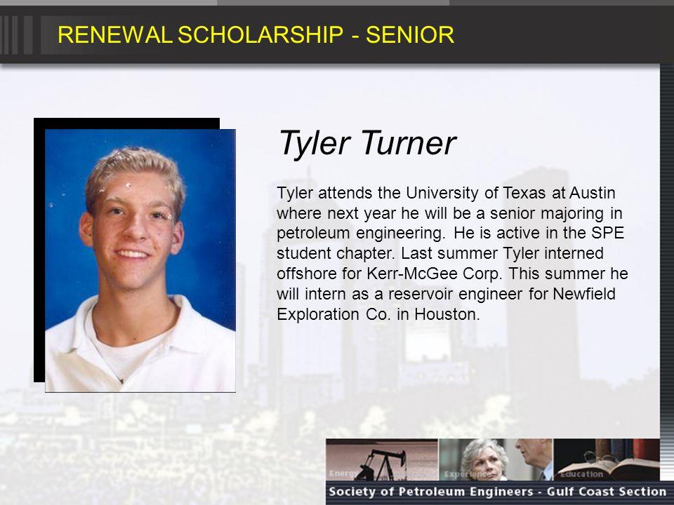 RENEWAL SCHOLARSHIP - SOPHMORE Gabriel Barragan Gabriel will be a sophomore in petroleum engineering at Texas A&M University.