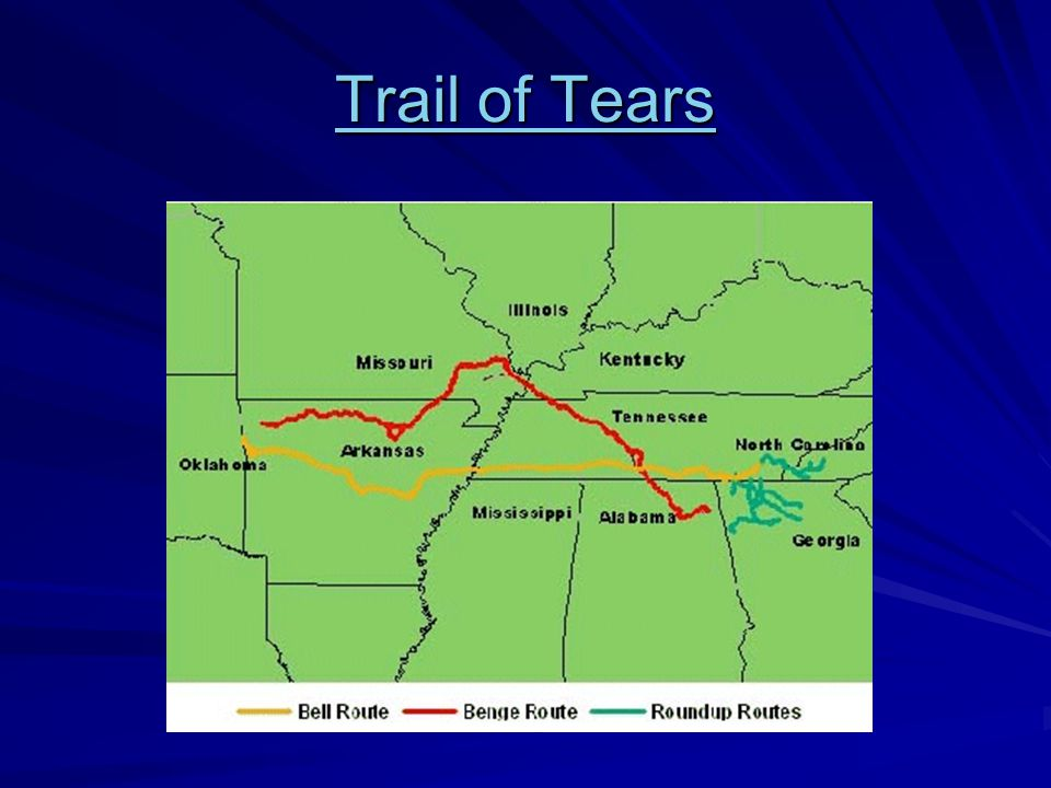 Trail of Tears Trail of Tears