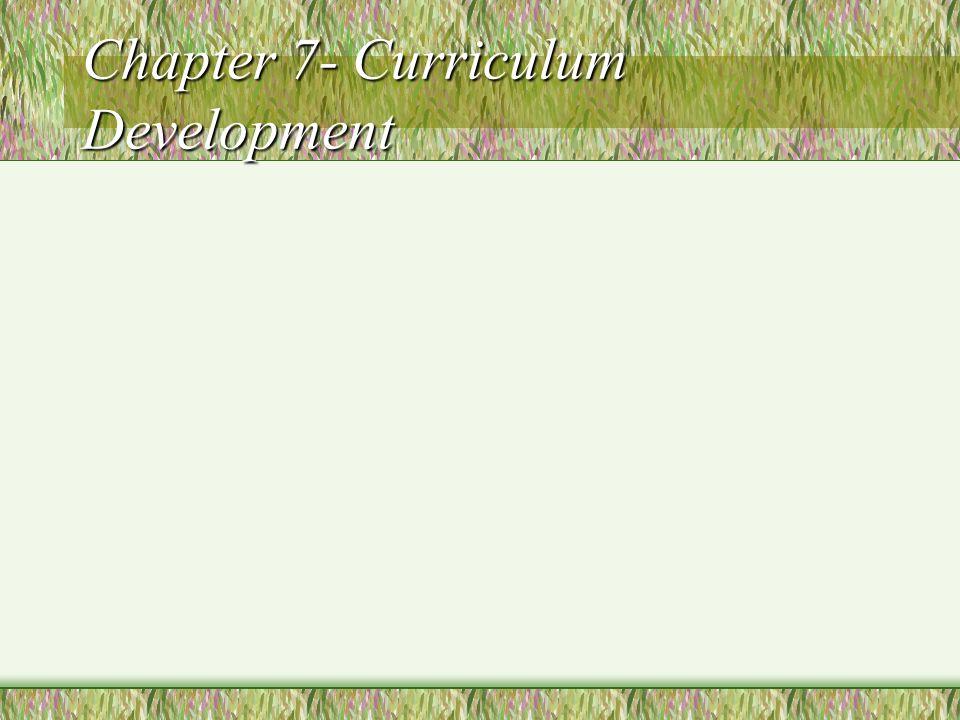 Models of Curriculum Development Technical Nontechnical (Holistic)