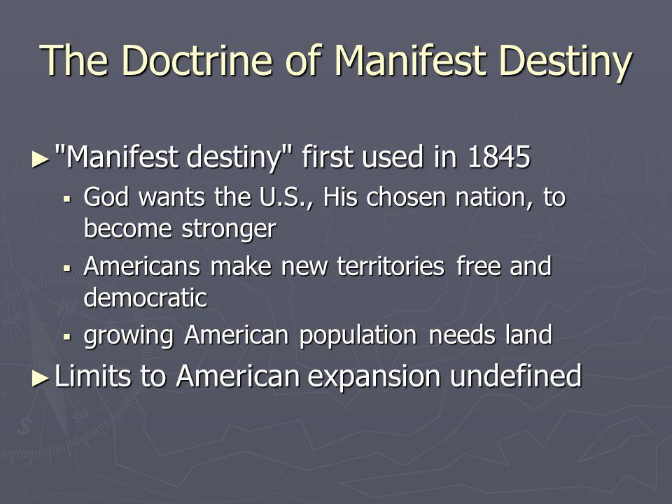 The Doctrine of Manifest Destiny ►