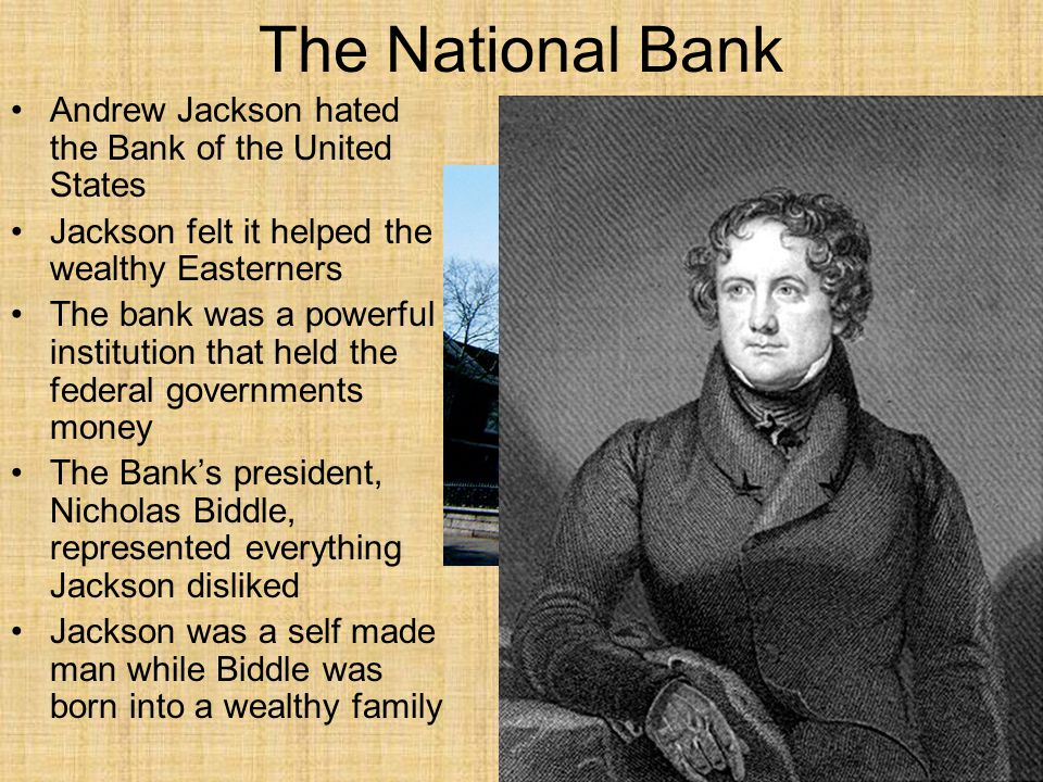 A.A B.B C.C D.D Section 3Section 3 Jackson attacked the Bank of the United States because A.it was being run by corrupt elected officials.