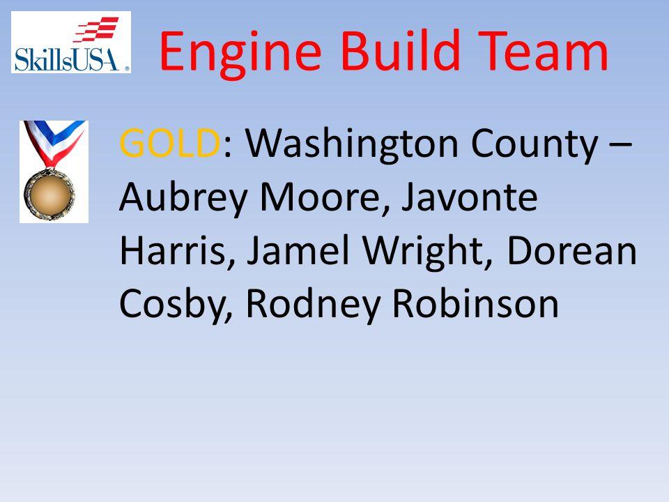 Engine Build Team GOLD: Washington County – Aubrey Moore, Javonte Harris, Jamel Wright, Dorean Cosby, Rodney Robinson