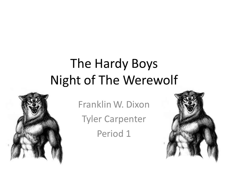 The Hardy Boys Night of The Werewolf Franklin W. Dixon Tyler Carpenter Period 1