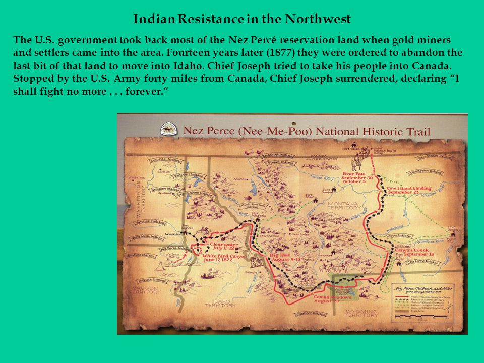 Indian Resistance in the Northwest The U.S.