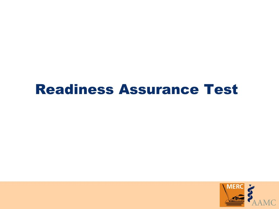 Readiness Assurance Test
