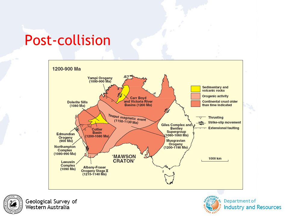 Department of Industry and Resources Geological Survey of Western Australia Post-collision
