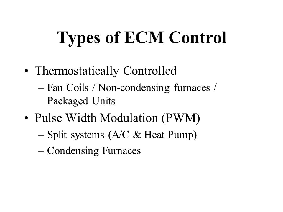 Troubleshooting ECM Motors for 80% two speed furnaces Check LOW VOLTAGE at R-C terminals, at the control board Pins 14, 9 of fourteen pin connector SHOULD ALWAYS HAVE ~24VAC