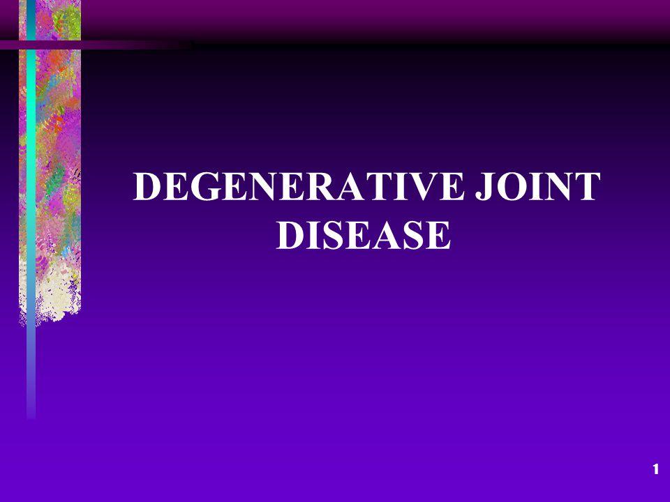 1 DEGENERATIVE JOINT DISEASE