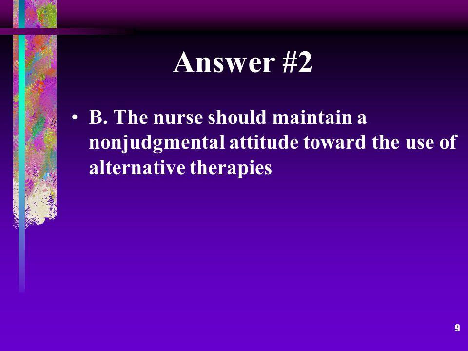 9 Answer #2 B.