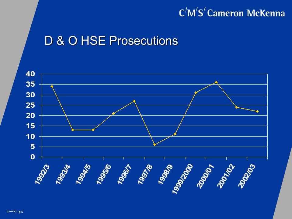 *** - p17 D & O HSE Prosecutions