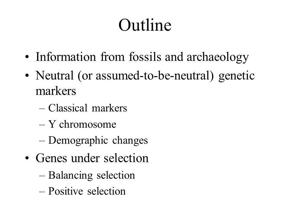 Demographic changes Population has expanded in range and numbers Genetic impact, e.g.