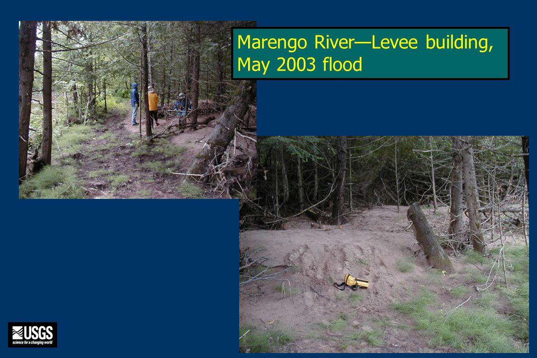 1992 Marengo River—Levee building, May 2003 flood