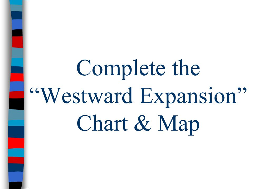 "Complete the ""Westward Expansion"" Chart & Map"