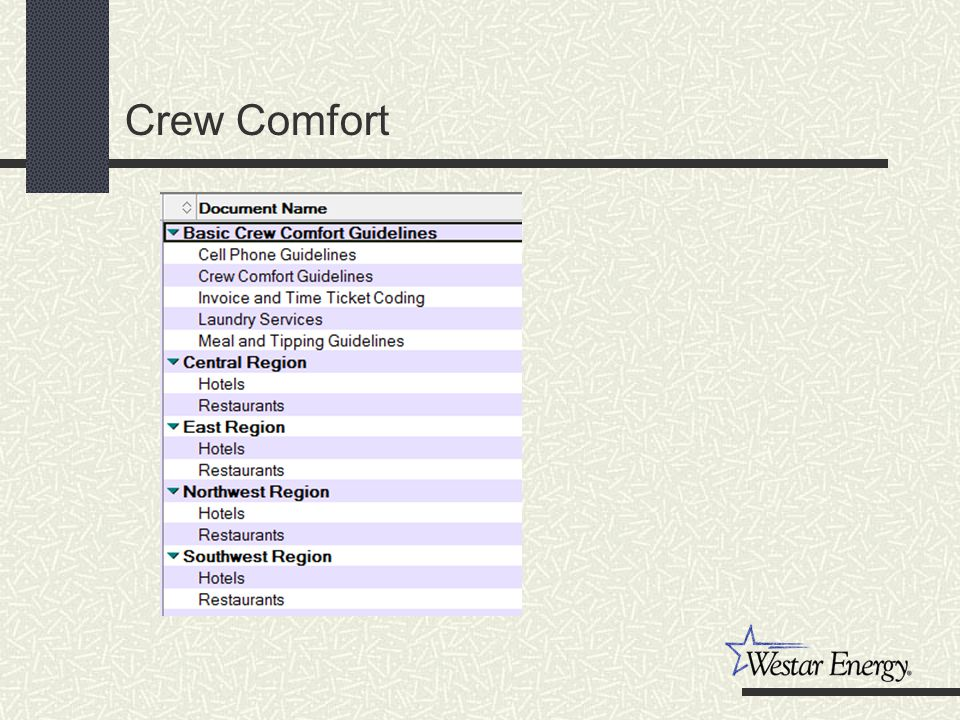 Crew Comfort