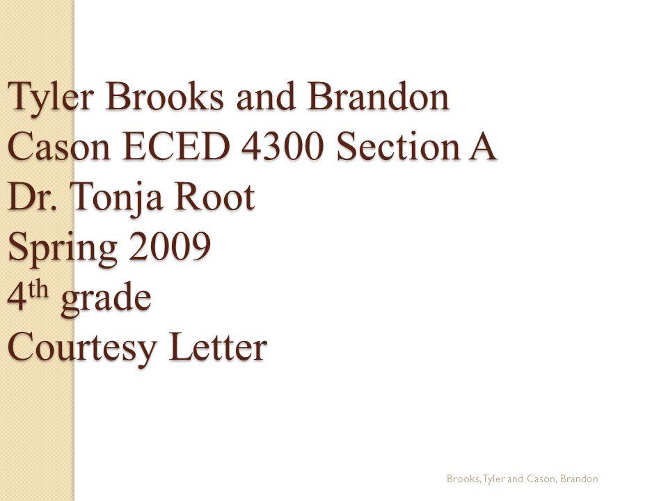 Graphic Organizer Brooks, Tyler and Cason, Brandon Root, T.