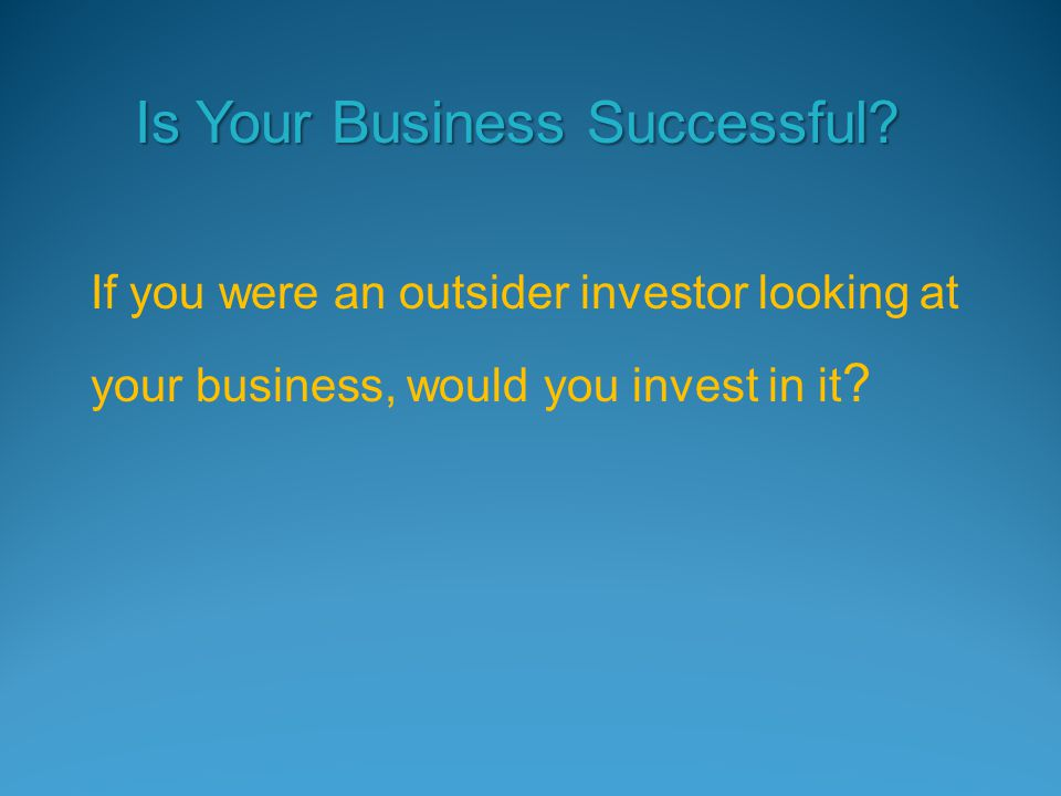 Is Your Business Successful.