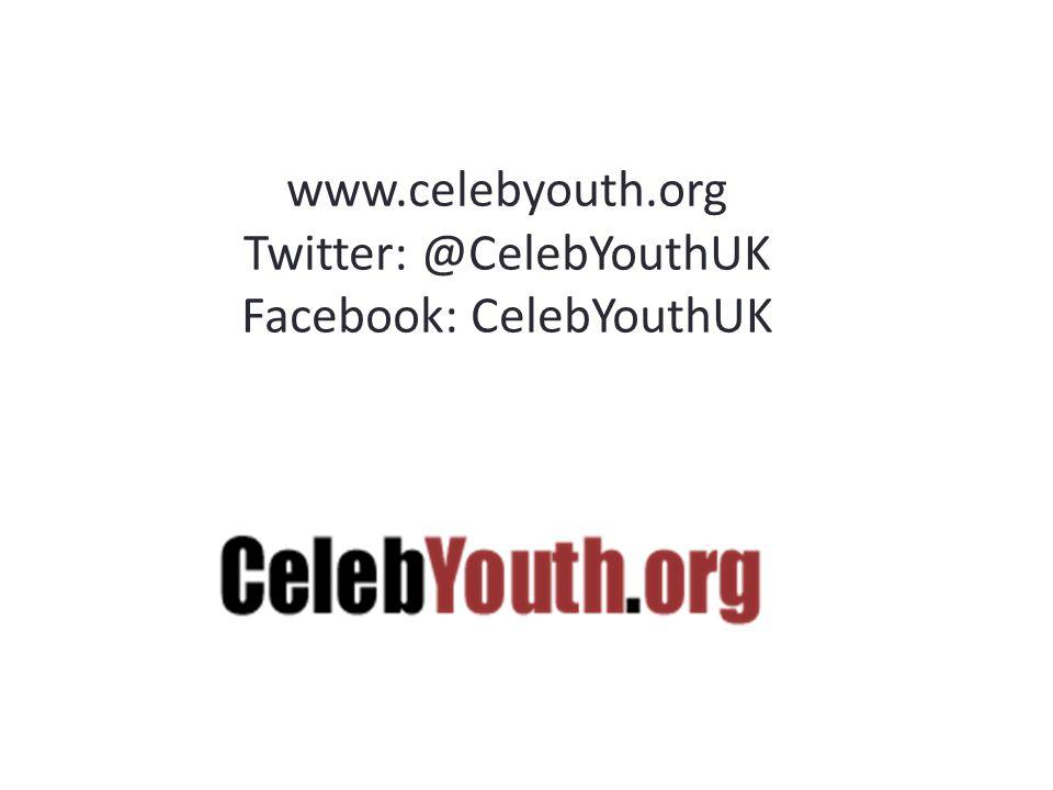 www.celebyouth.org Twitter: @CelebYouthUK Facebook: CelebYouthUK