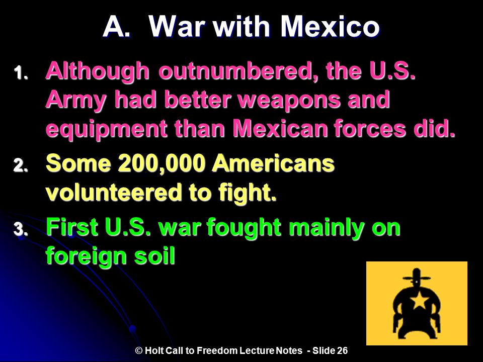 I. Response to War © Holt Call to Freedom Lecture Notes - Slide 25