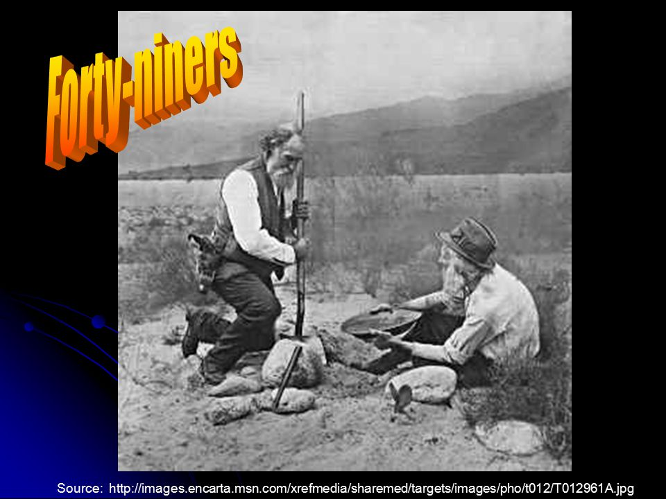 B. The California Gold Rush 1. Caused a huge increase in the population of California 2. Began in 1849 and drew some 80,000 gold-seekers, known as for