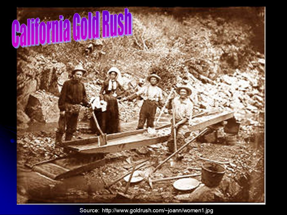 V. Growth in the West A. The California Gold Rush led to a population boom. B. As the gold rush faded, California society became more stable. © Holt C